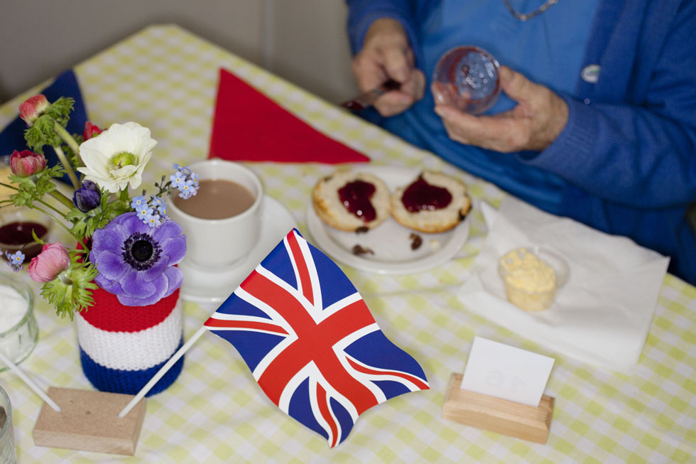 GUERNSEY. Liberation Day tea at Forest United Methodist Church. 2012.